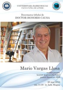 Afis - DHC Mario Vargas Llosa